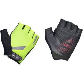 GripGrab ProGel Hi-Vis Padded Short Finger Gloves Fluo Yellow
